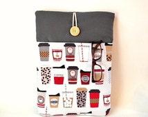 "Coffee Macbook Case, Custom Size Brands 10, 11, 12, 13, 14, 15, 16, 17 "" Laptop Bags, Sleeve, Cover, Espresso Latte Cappuccino Macchiato Sac"