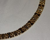 Vintage 14k Yellow Gold Panther Link Style Necklace