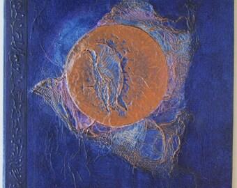 Handmade Journal Blue Moon 8x8 Original Refillable