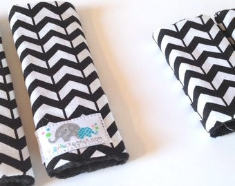 You Pick the FABRIC and SIZE   Car Seat Strap Covers   Shoulder Strap   Broken Chevron