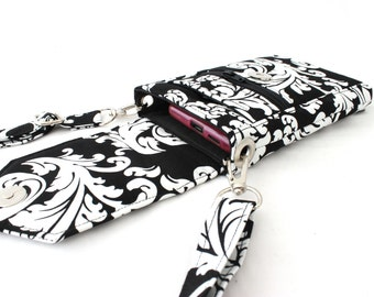 cell phone purse - mobile phone bag with zipper pocket - small crossbody purse  - iphone purse - cell phone wallet - small crossbody bag