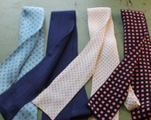 Lot of 4 Vintage 1980s Silk Ladies' Bow Ties