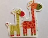 Giraffe Fabric Iron On Appliqué