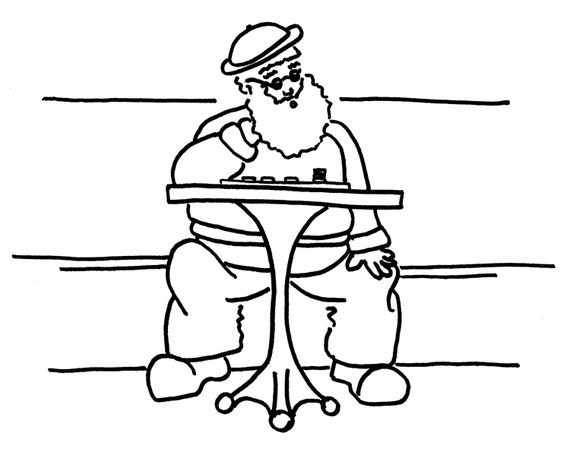 Checkers In The Park Funny Coloring Pages For Adults From