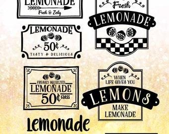Lemonade SVG Files, Lemonade Stand Cuttable SVG Files,  Svg, Eps, Gsd, Ai, Vinyl Cut Files for Silhouette, Cricut, and more