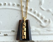 Vintage modernist Lucite Faux Agate Abstract Pendant Statement large