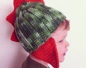 Dinosaur hat - crochet pattern - pdf