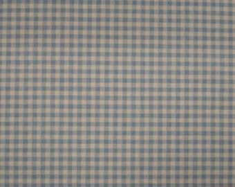 """Berceuse Baby Blue Check Upholstery Fabric 56"""" Wide Sold by the Yard"""