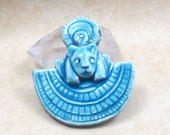 SETMET Egyptian Pendant Raku Pottery
