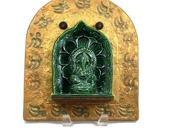 Ganesha Wall Hanging, Handmade Pottery