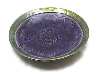 HECATES HEKATES Spiral Offering Bowl Handmade Raku Pottery