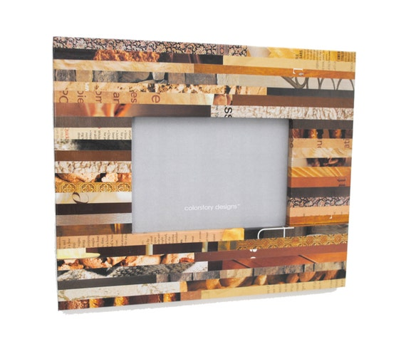 Basket Weaving Osi : Neutral colored picture frame made with recycled
