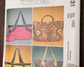 Tote, Bag, McCall's, Fashion Accessories, M6131, Uncut