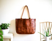 Naturalist Leather Tote Bag
