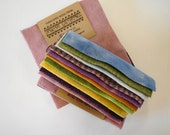Woolen Charm Pack - Primitive Gatherings Hand Dyed Wool in a Combination of Pastel Colors