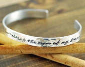 Cuff Bracelet, Thank you for raising the man of my dreams, Personalized Bracelets, Inspirational Jewelry, Gift for Mother In Law, Bridal