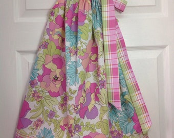 CLEARANCE - Pastel Floral Pillowcase Dress Size 6