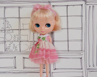Pretty in Pink Handkerchief Dress - Little Sweetheart Collection for Blythe Neo Kenner Takara Custom