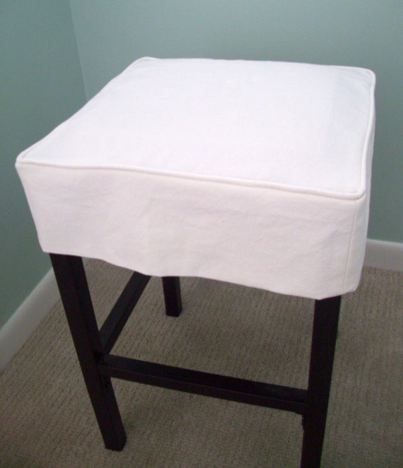 Square Barstool Slipcover Canvas Washable Bar Stool Slipcover