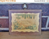 70% OFF CLEARANCE Wooden Kitchen Plaque Decoupage Herbs Churn Saying