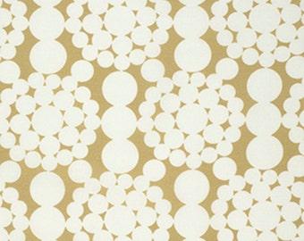 Free Spirit Fabric-Jennifer Paganelli - Nostalgia - Jimmy Dots - Gold PWJP109 1 Yard Cut