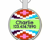 Wanderlust Personalized Dog ID Pet Tag Custom Pet Tag You Choose Tag Size & Colors (5 Colors!)