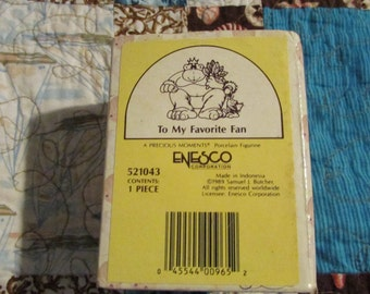 PRECIOUS MOMENTS To My Favorite Fan Enesco 1989 Mint In Box Figurine
