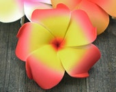 Floral Hair Clip, Hawaii Hair Clips, Red  Plumeria, 3 Inch, Hair Accessory, Foam Flower Hair Clips