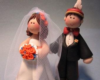 House Divided...Gator Bride and Nole FSU  Groom Wedding Cake Topper