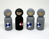 Noble Knights Peg Doll Playset READY TO SHIP