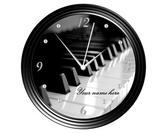 Piano Keyboard Wall Clock #3 - Personalized - Music Major/Teacher/Student/Graduation/Gift/Monogram