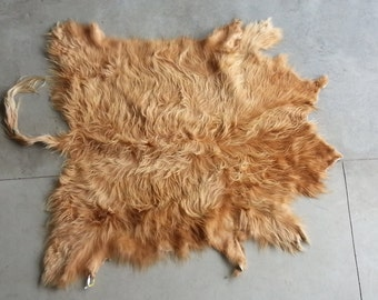 Light Red Blonde Scottish Highland Cowhide-  Soft tanned- Lot No. 97717Y