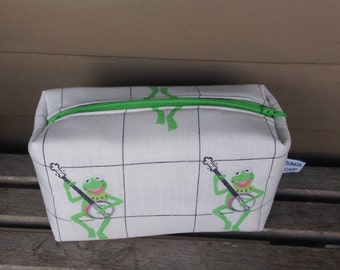 Kermit the Frog Zipper Pouch Recycled