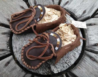 Buffaloskin Youth Moccasins - Size 1
