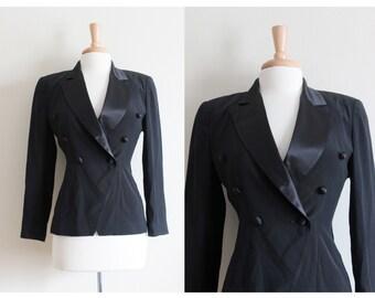 Vintage 1980s Black Tuxedo Jacket