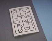 Foil Printed Notebook A5 - Vellum white