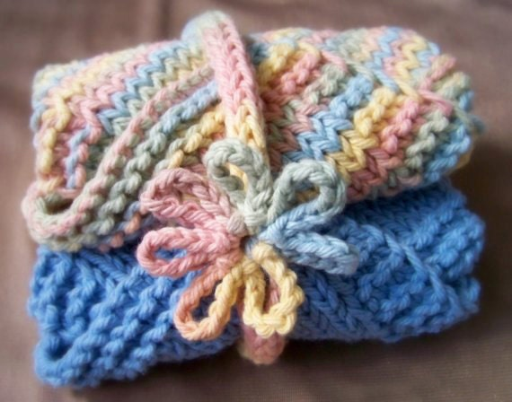 Knitting Patterns For Baby Washcloths : Knitting PATTERN Washcloth Pattern Baby Washcloths Pattern
