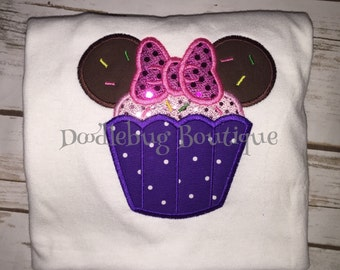 Minnie Mouse cupcake shirt