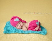 Turquoise Mini Blanket Newborn Photography Prop