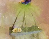 Fairy Garden Canopy Bed Fairy Garden Floral Bed Fairy Garden Nature Bed
