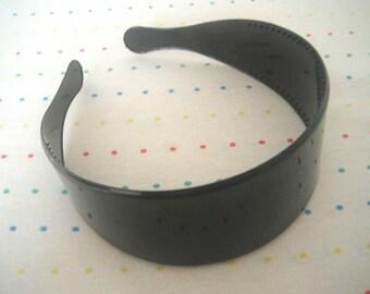 "Ultra Wide Black Plastic Headbands, Large Headbands, Headbands in Bulk, 2"" Wide (8)"