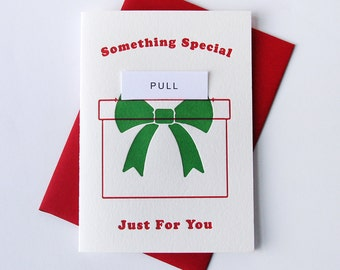 Letterpress Holiday Christmas card - Special Poop - Pull Out card