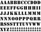 Block Letter Ceramic Decals, Glass Decals or Enamel Decals