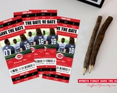 Save The Date Sports Ticket, Ticket Save The date, Save The date, Wedding Save the date,  Sports Ticket, Wedding, Announcement, File I01T