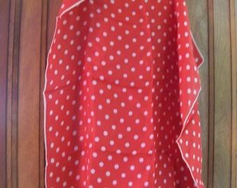 ray STRAUSS  design scarf vintage polka dots