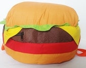 Cheeseburger Backpack- ORIGINAL DESIGN- Made To Order -  Stuffed Cheeseburger Backpack