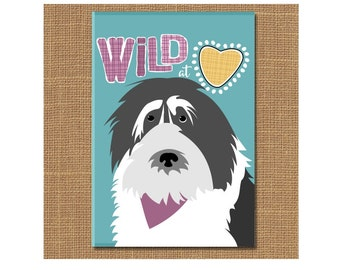 Wild at Heart Magnet, Sheepdog Magnet, Dog Fridge Magnet, Dog Lover Gift, Happy Dog, Graduation Gift, Polish Lowland, Gift for Teen