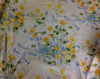 Vintage VERA Neumann twin  fitted sheet bright flowers