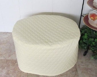 Cream Kitchen Oval Crock Pot Cover Ready to Ship