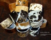 Pick Your Colors of Cowhide Cuffs -  Cowhide - Leather Supply - Leather Cuffs - Leather Bracelets - Leather Jewelry - Cowhide Bracelet
